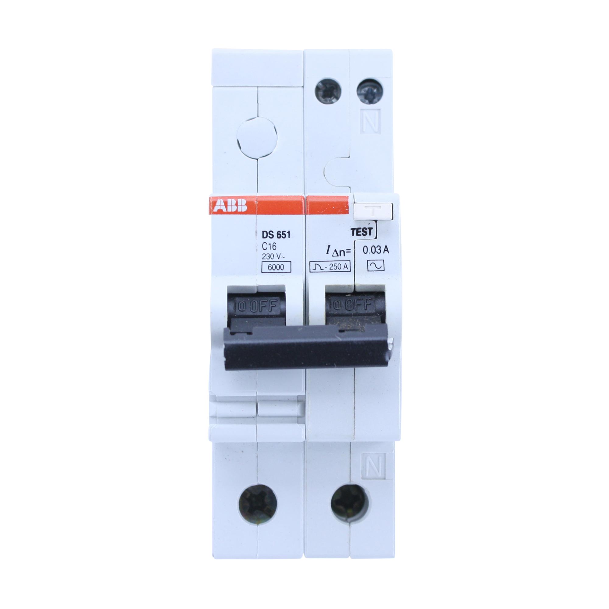 Abb Ds651c16 0 03 Ds651 C16 Type C Curve Din Rail Circuit