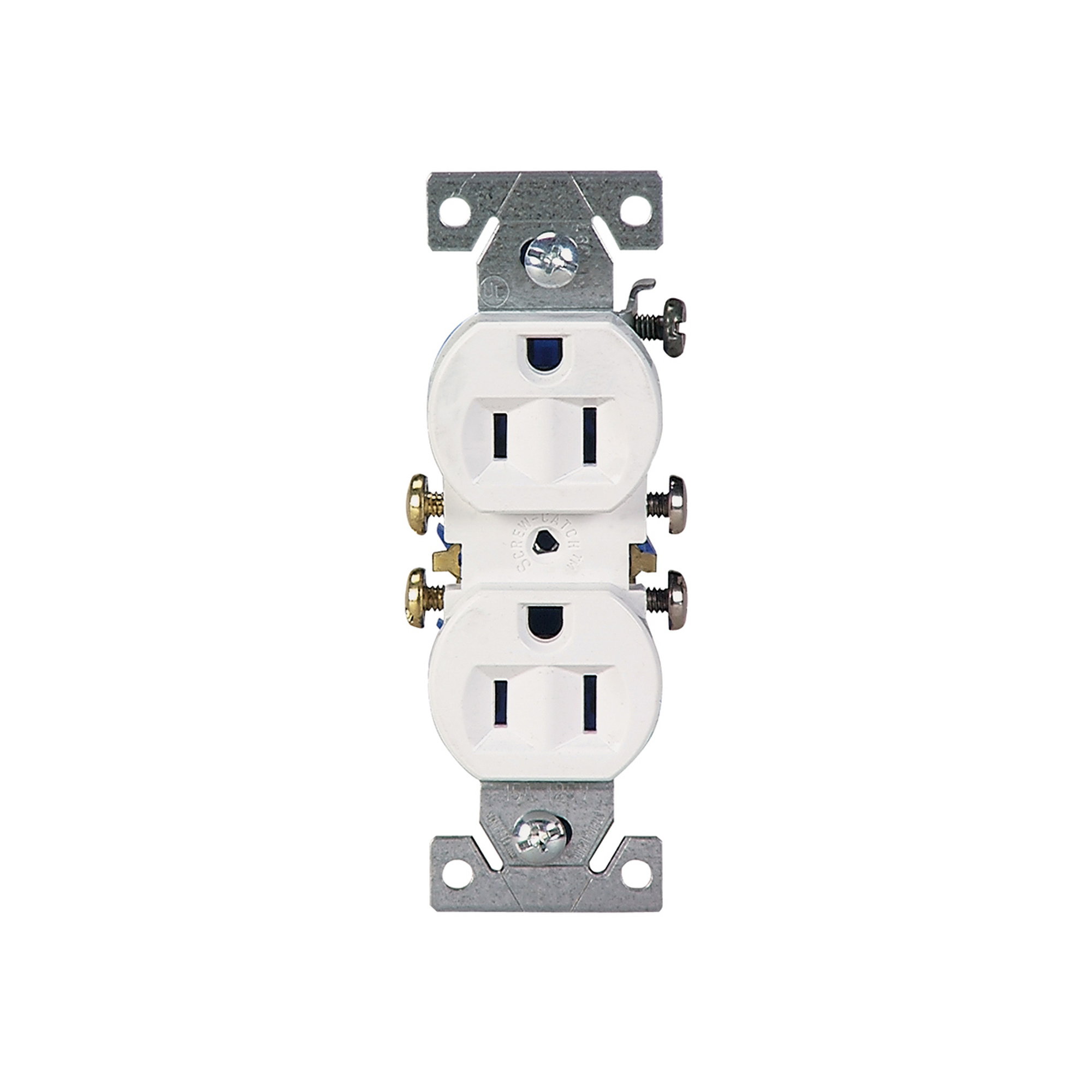 cooper wiring devices 15 amp white duplex receptacle ... wiring a duplex receptacle from a light switch wiring a gfi receptacle #5