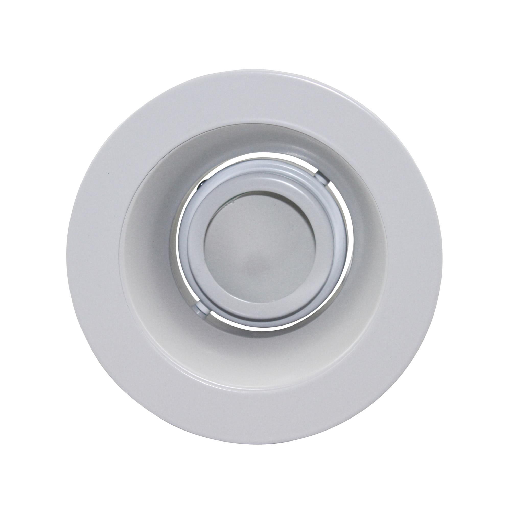 Capri lighting p4lr 4 white reflector miniature tilt for Number of recessed lights per room