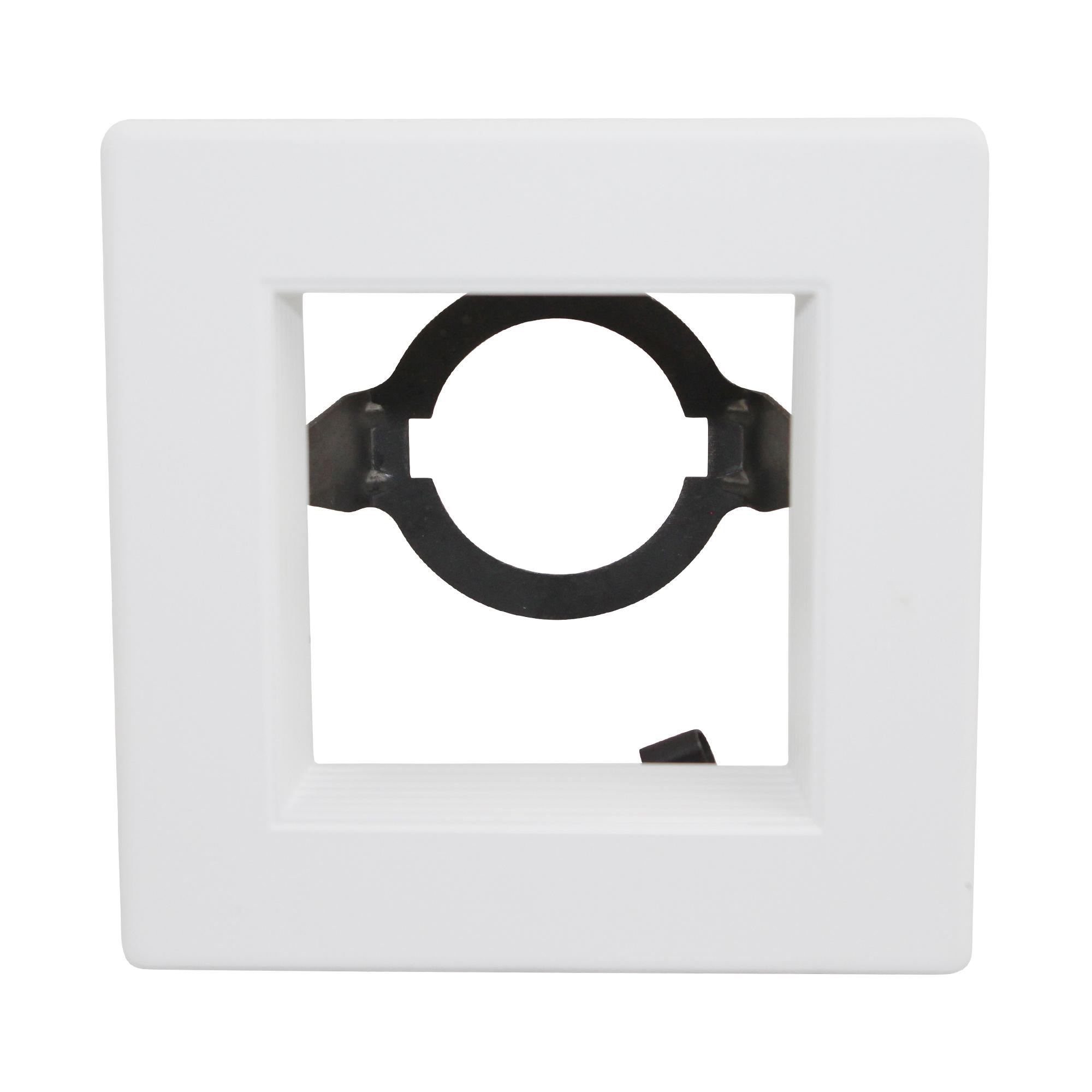 Capri lighting 4 square trim r451 recessed ceiling trim for Number of recessed lights per room