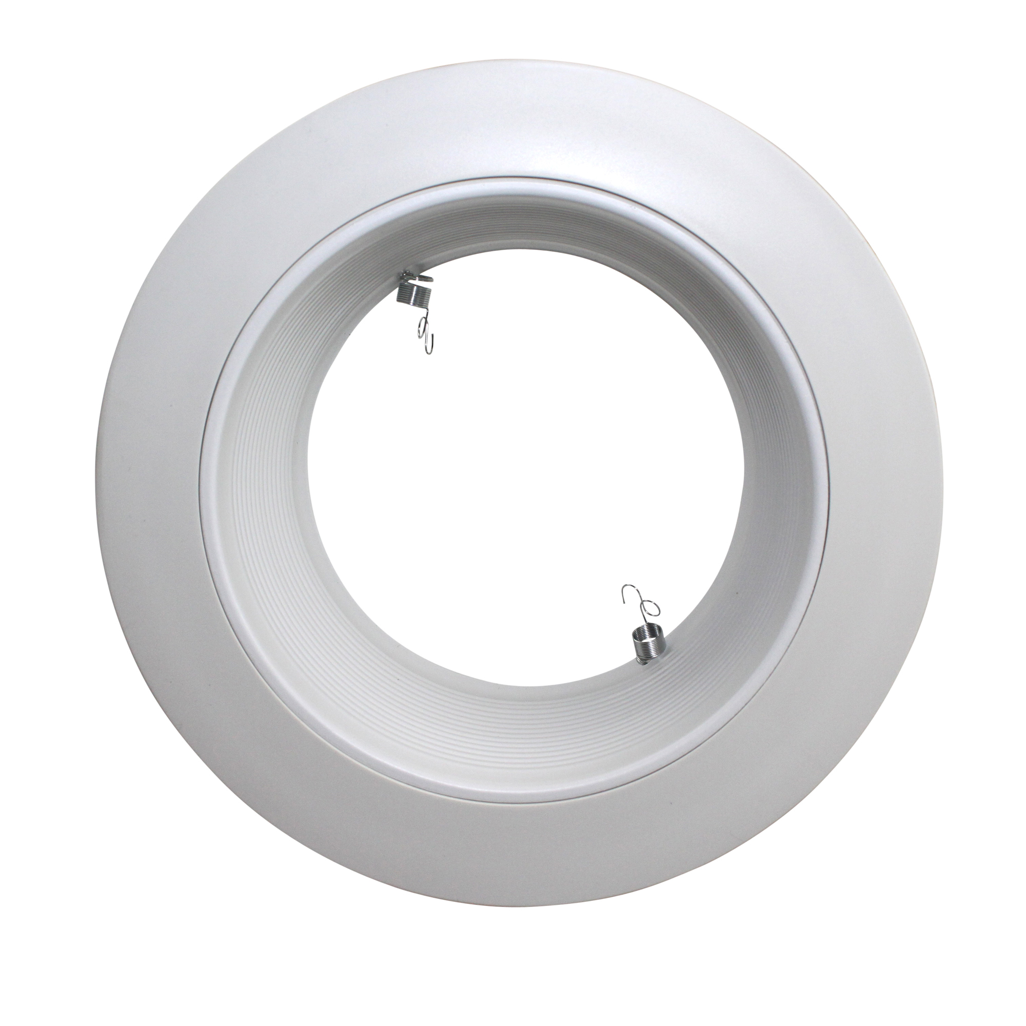 Capri lighting rm40wov 6 white baffle trim with ring for Number of recessed lights per room
