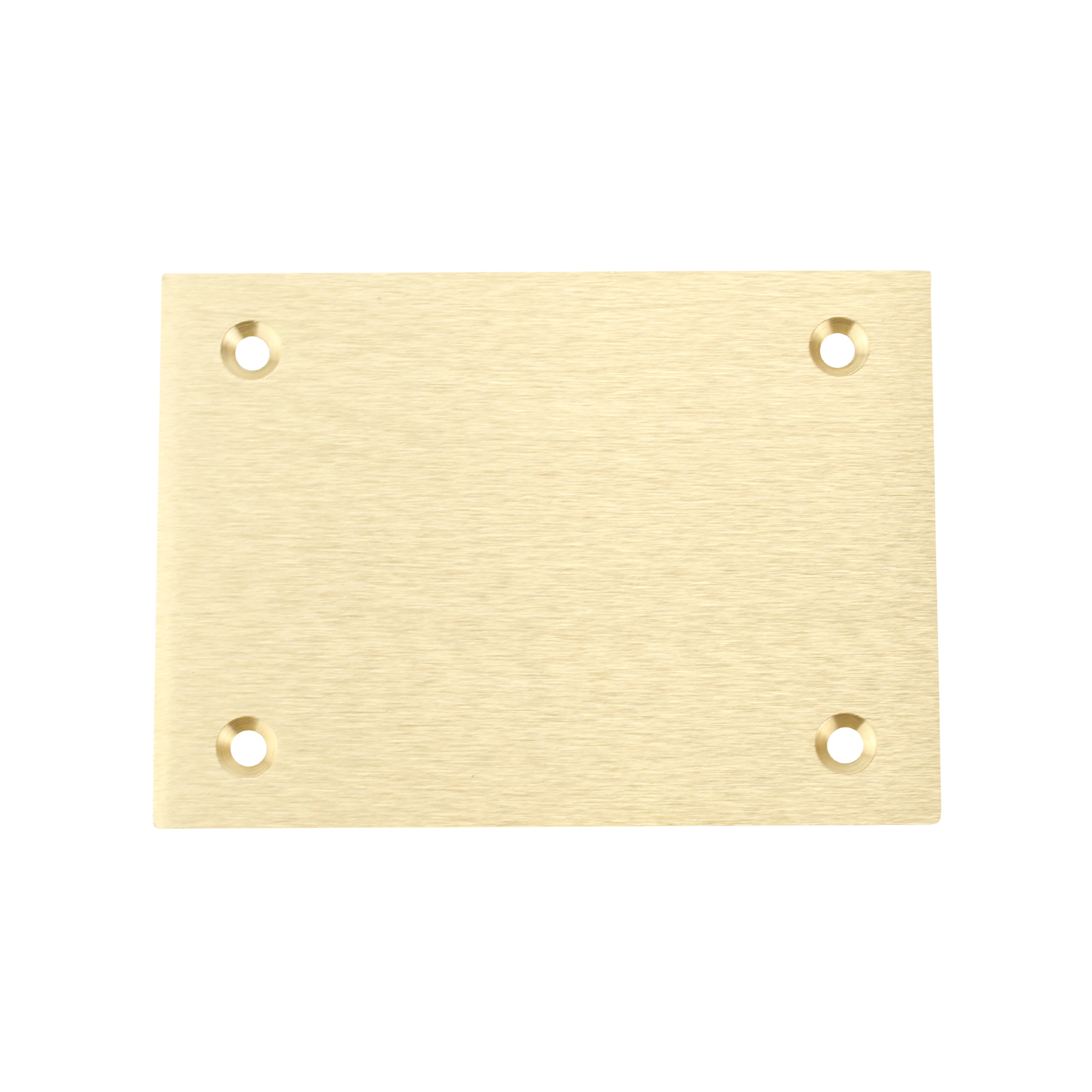 Hubbell S3813 Brass Round Floor Box Rectangle Blank Cover