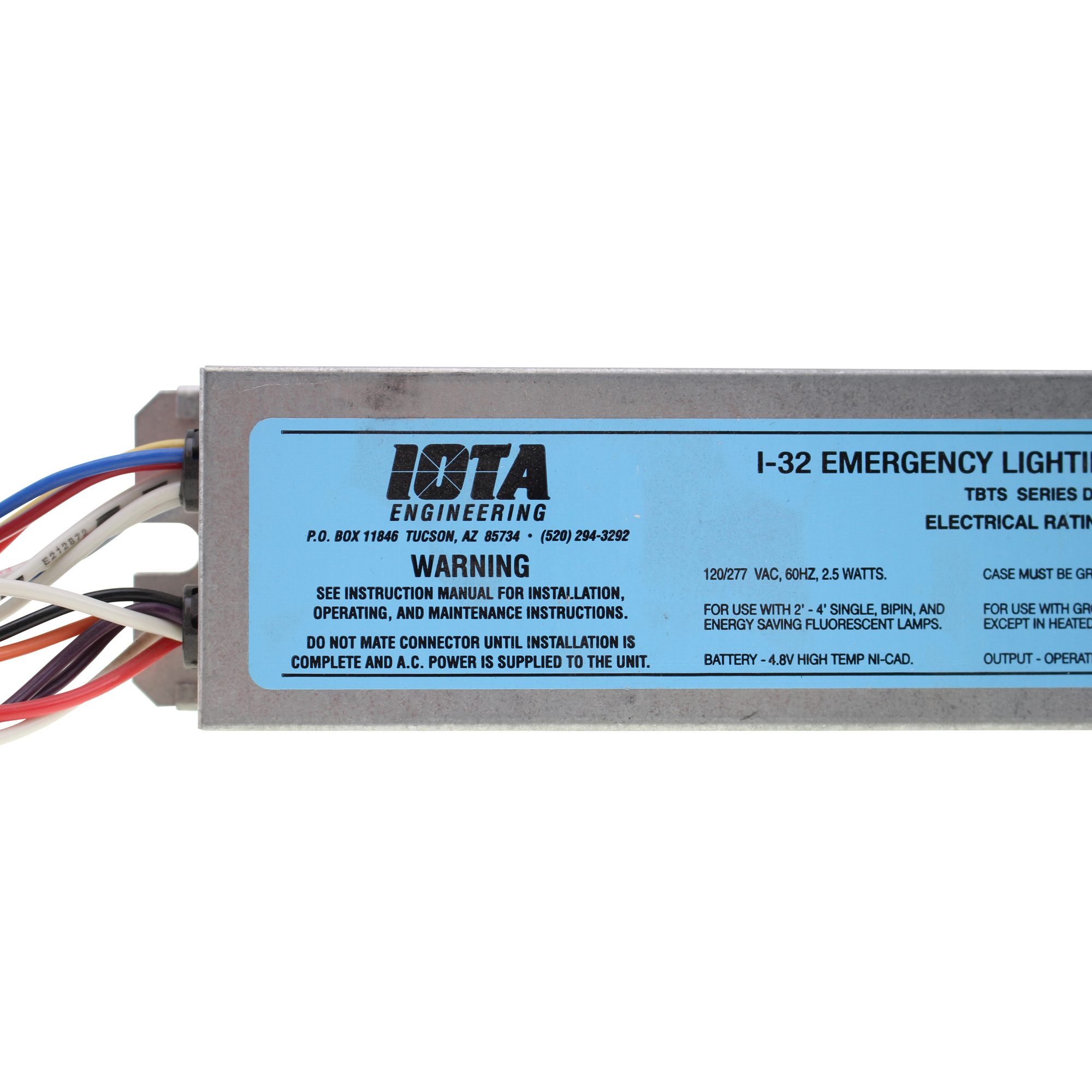 Iota 1 32 Tbts Break 2018 Light Ballast Wiring Diagram As Well Emergency Long Life High Temperature Recyclable