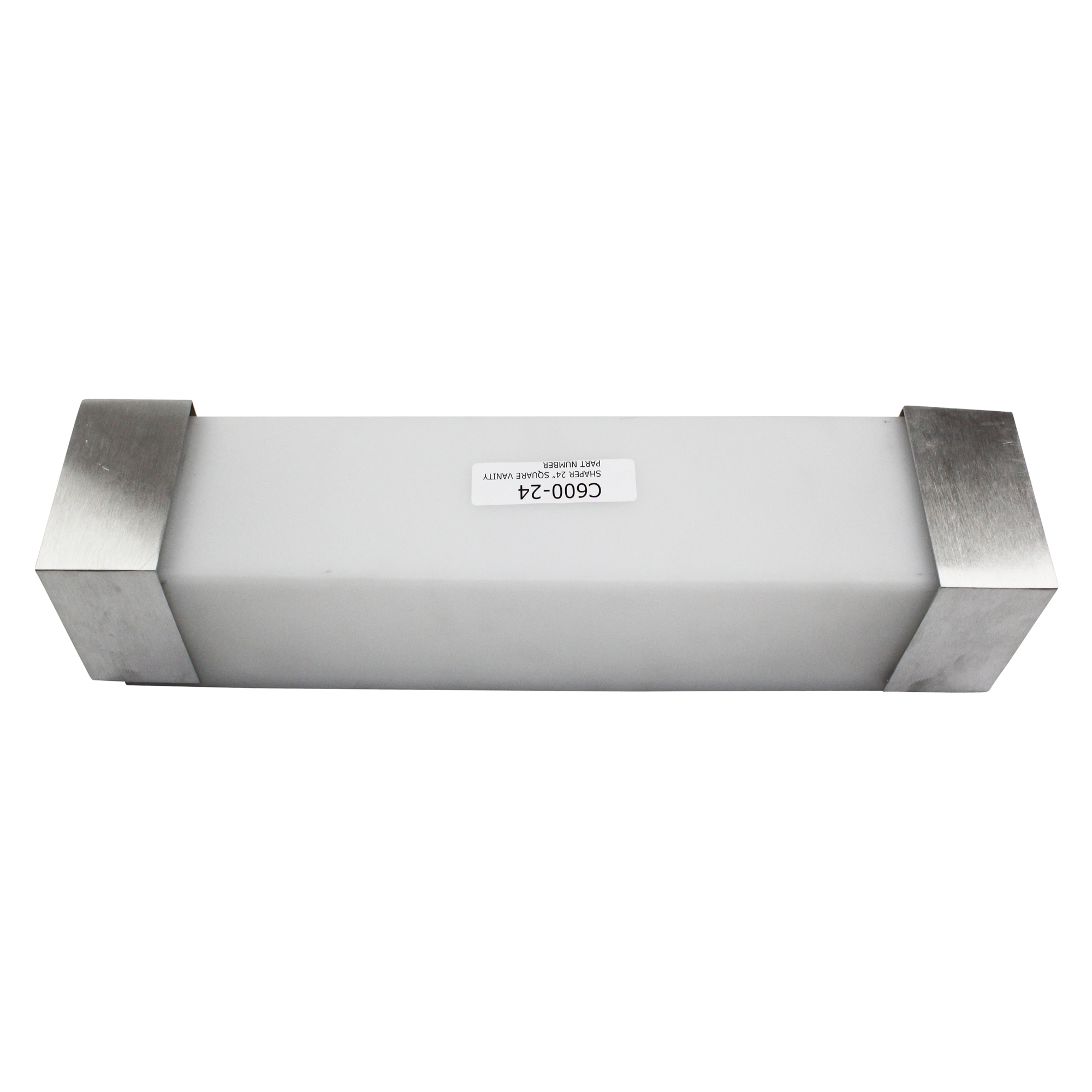 SHAPER 24 SQUARE INTERIOR WALL VANITY 600 24 BRUSHED NICKEL LUMINAIRE L