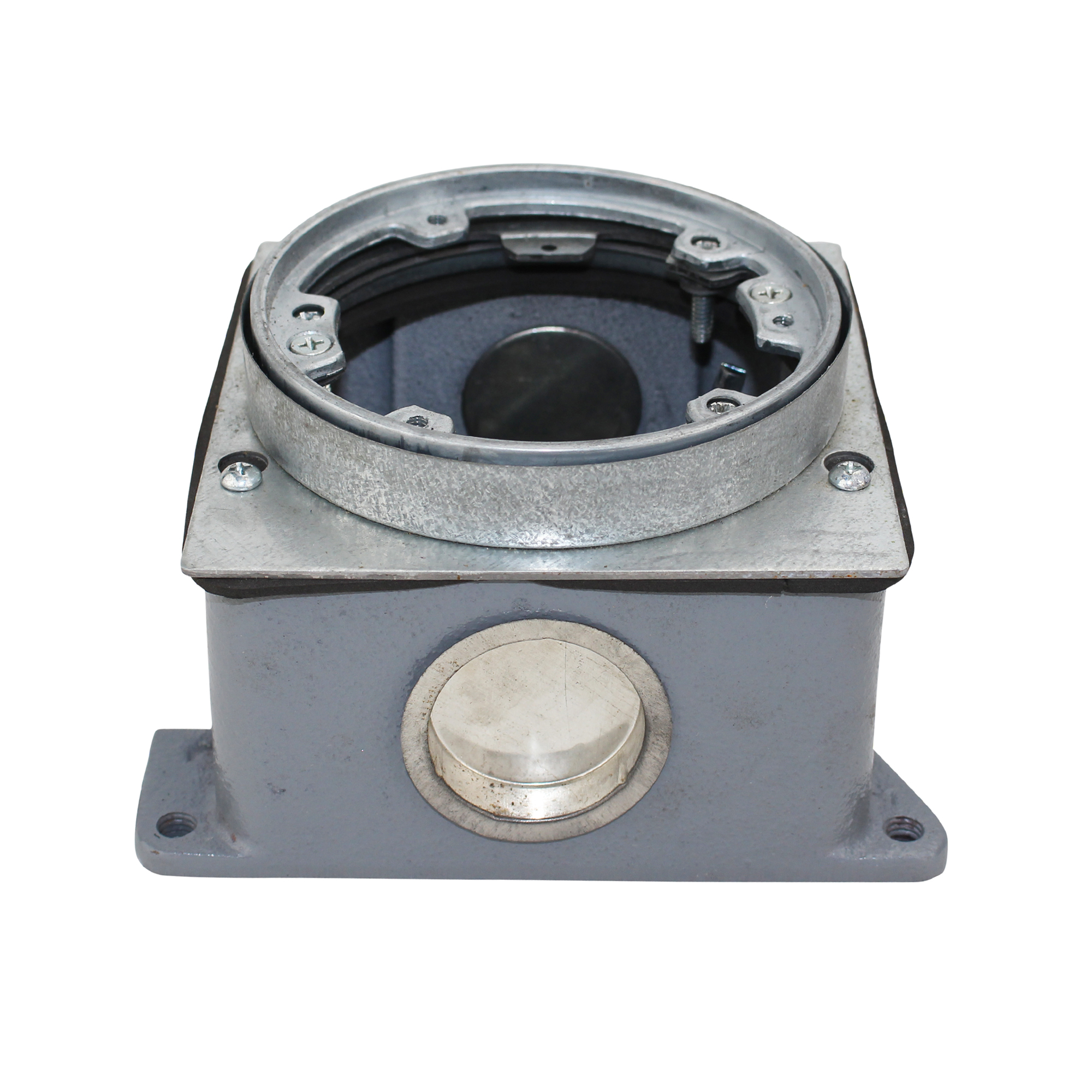 wiremold legrand 889b cast-iron floor box, outlet box, cast iron