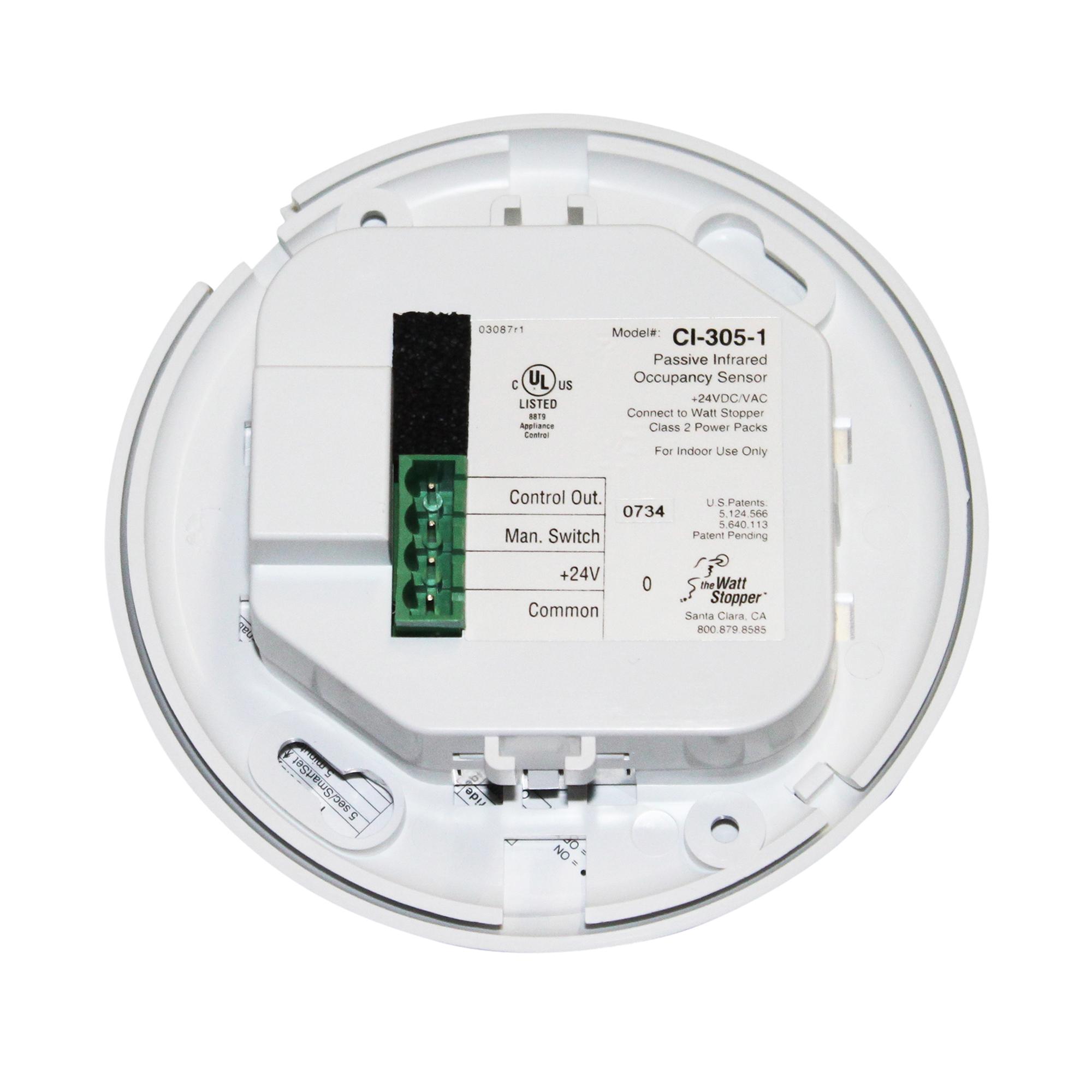 WATT STOPPER CI-305-1 360 OCCUPANCY SENSOR , 24VDC, WHITE