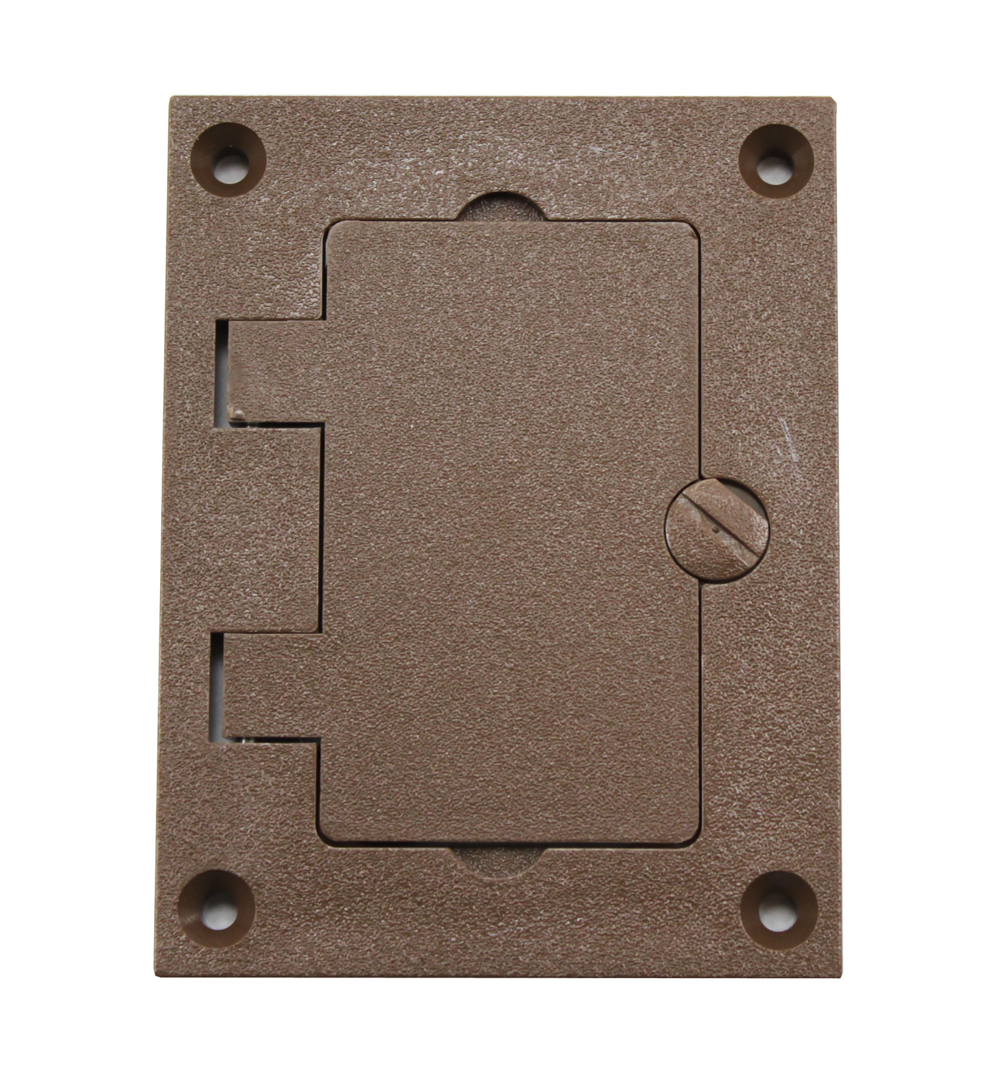 wiremold walker 828prgfi brn brown non metallic gfi plate cover ebay. Black Bedroom Furniture Sets. Home Design Ideas