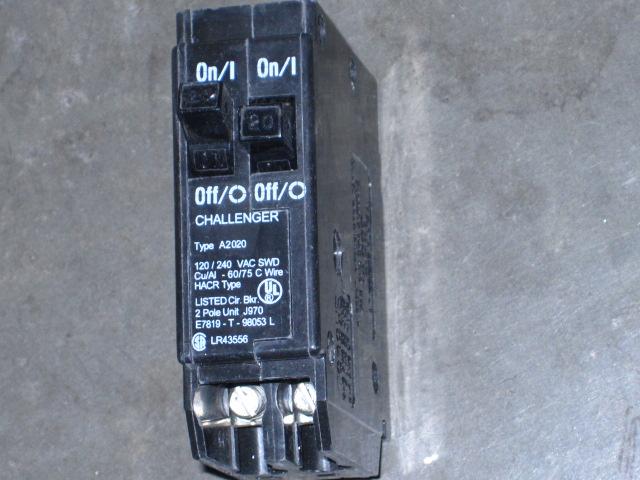 Challenger 2p Tandem 20a 120 240v Circuit Breaker A2020 Ebay