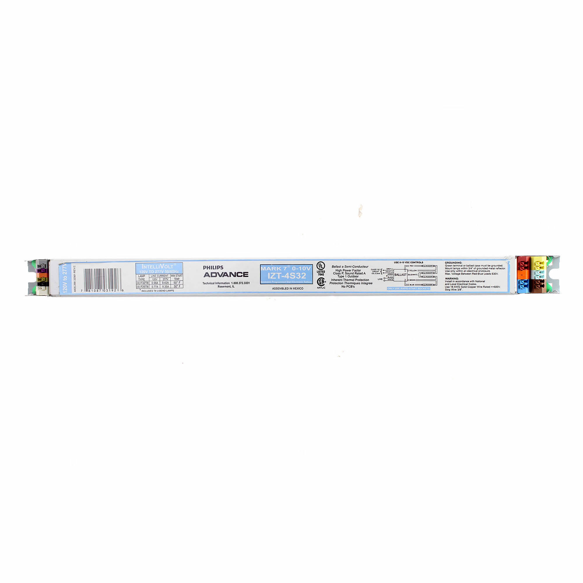 Advance Izt 4s32 Mark 7 Dimmable Electronic Ballast F32t8
