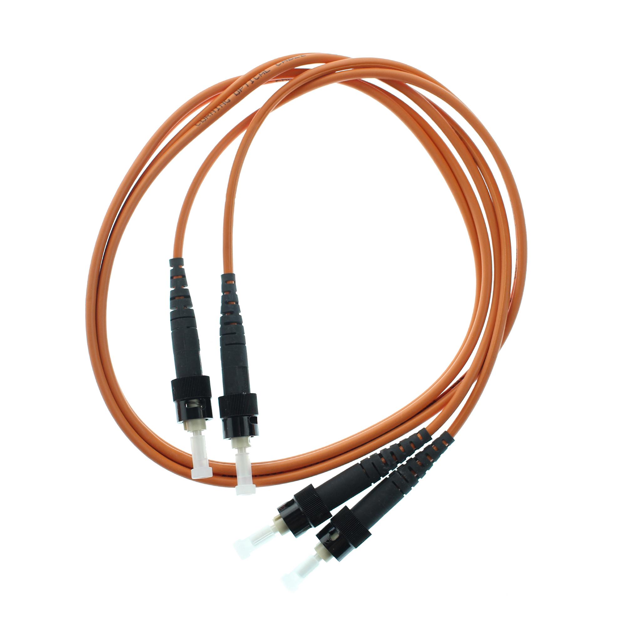 ANIXTER 129350 62.5/125 ST DUPLEX MM FIBER OPTIC PATCH-CABLE, 1 ...
