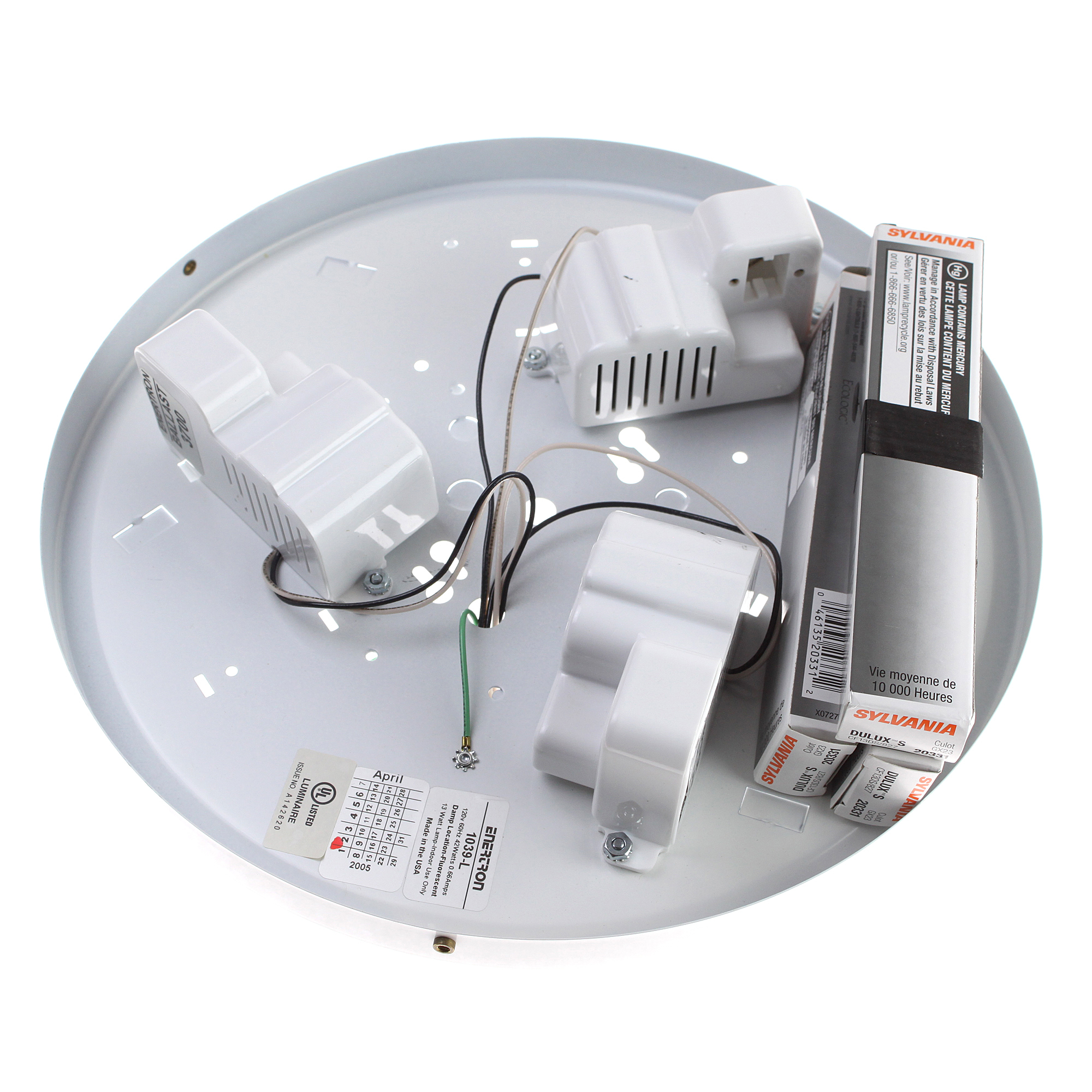 We gladly accept payments by Paypal Visa MasterCard Discover u0026 American Express.  sc 1 st  eBay & ENERTRON 1039-L CFL FLOURESCENT DRUM WALL CEILING MOUNT LIGHT | eBay azcodes.com