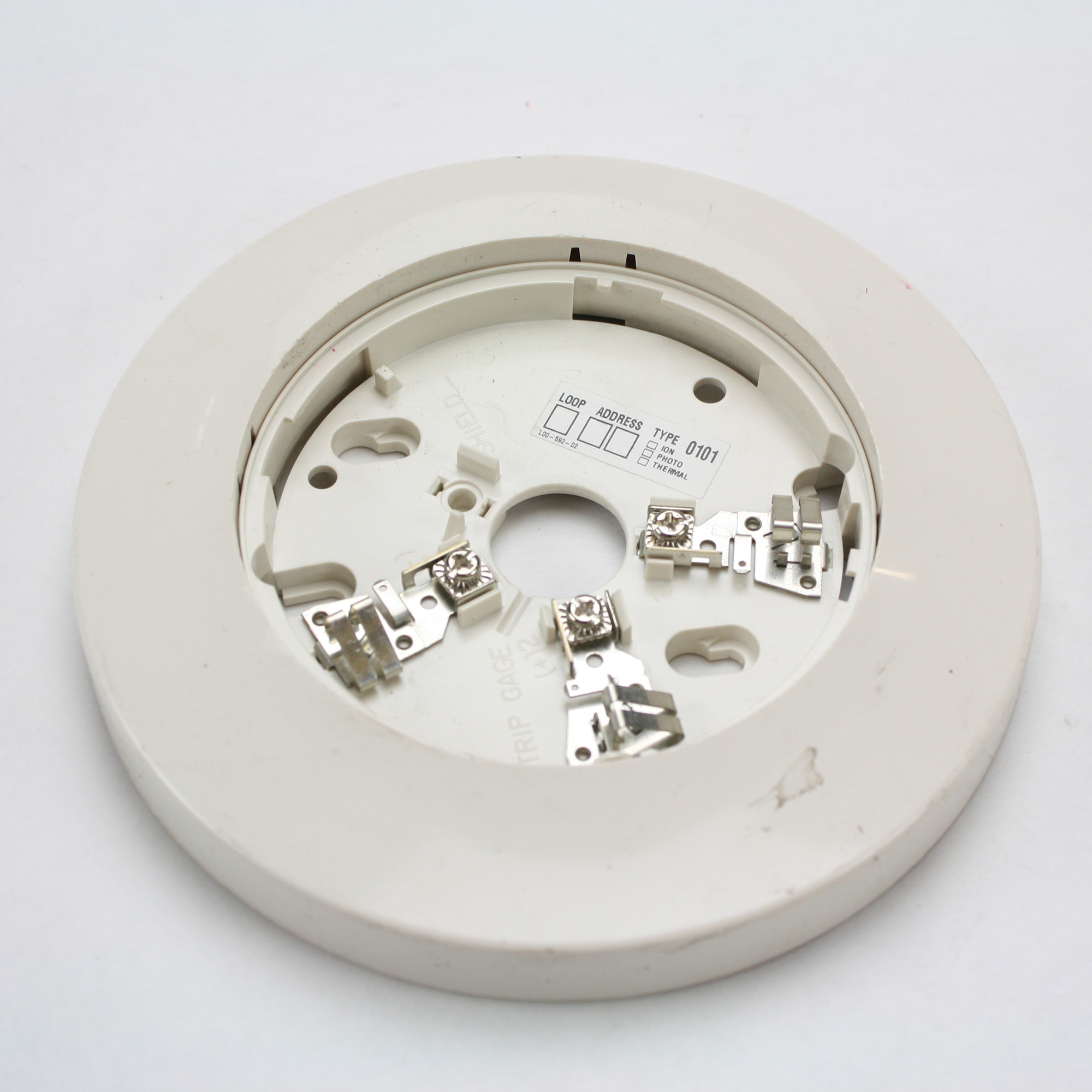 Fci Gamewell Honeywell Adb Flf Fire Alarm Intelligent Flanged Wiring Diagram This Auction Is For 1 Mounting Detector