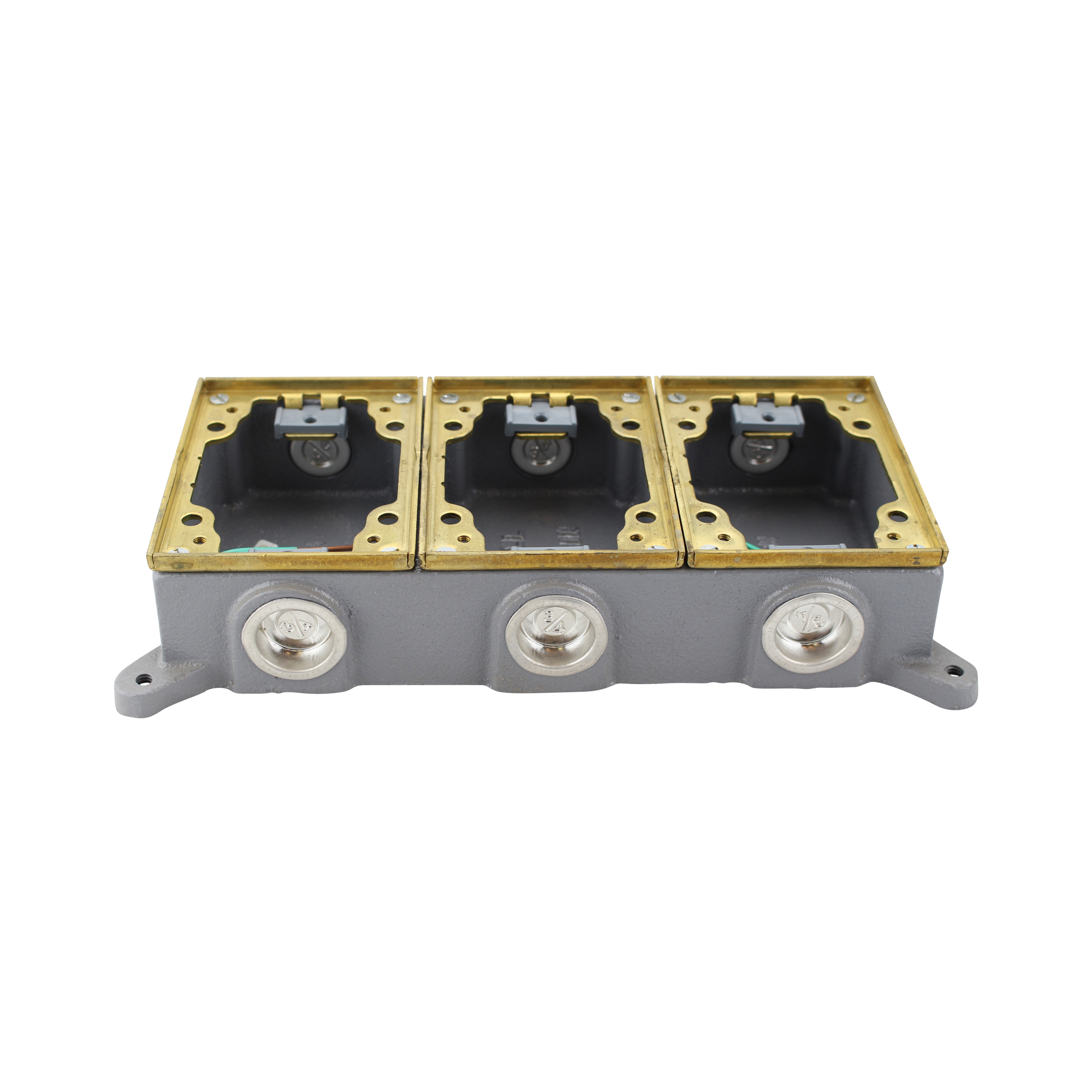 combo box cover round outlet floors rectangle is for auction a floor this brass hubbell itm