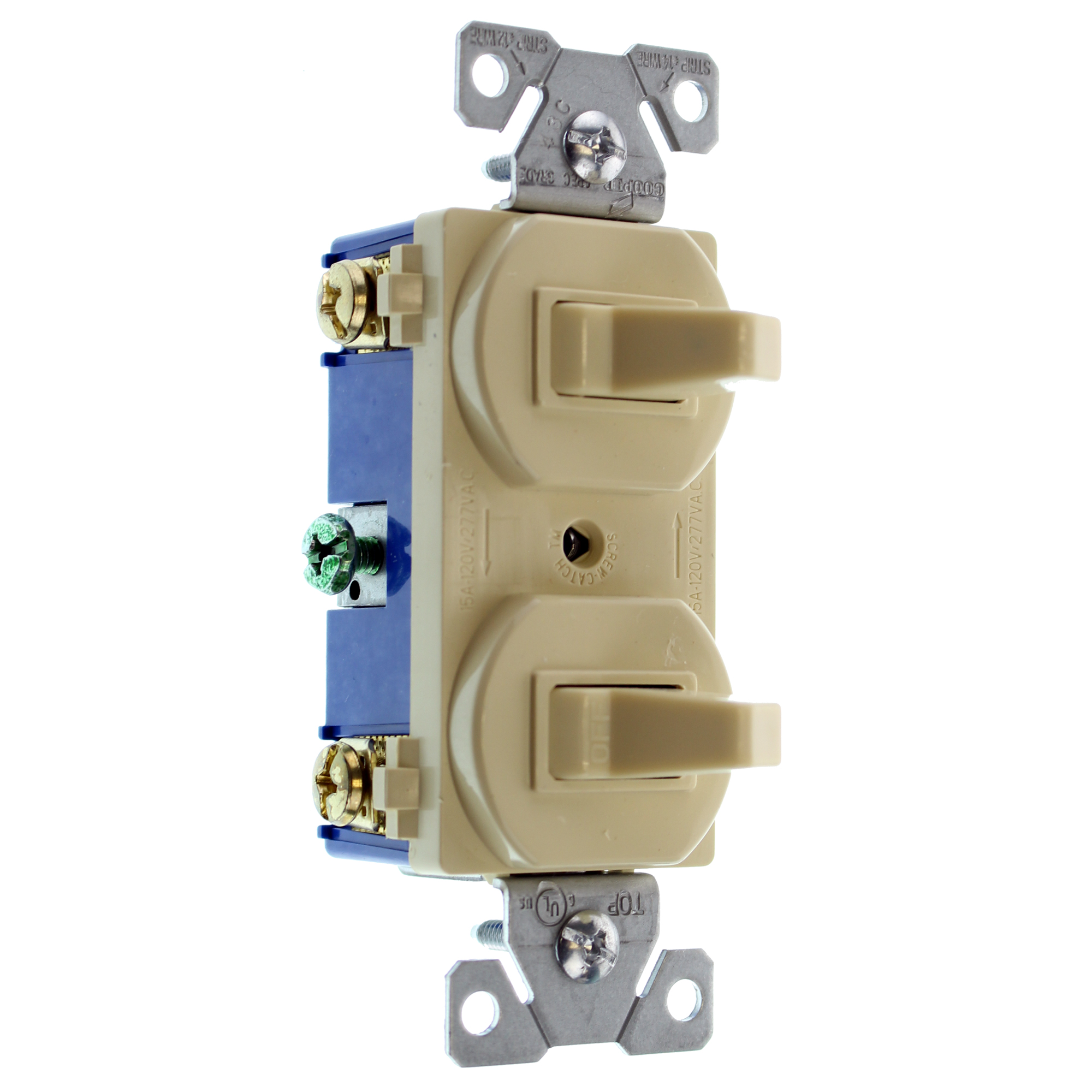 Details about HUBBELL RC103IZ DOUBLE TOGGLE SWITCH, 1-POLE & 3-WAY, on leviton 3 way switch, pass & seymour 3 way switch, bridgeport 3 way switch, eagle 3 way switch, lutron 3 way switch, changing 3-way light switch, cooper 3 way switch, legrand 3 way switch,