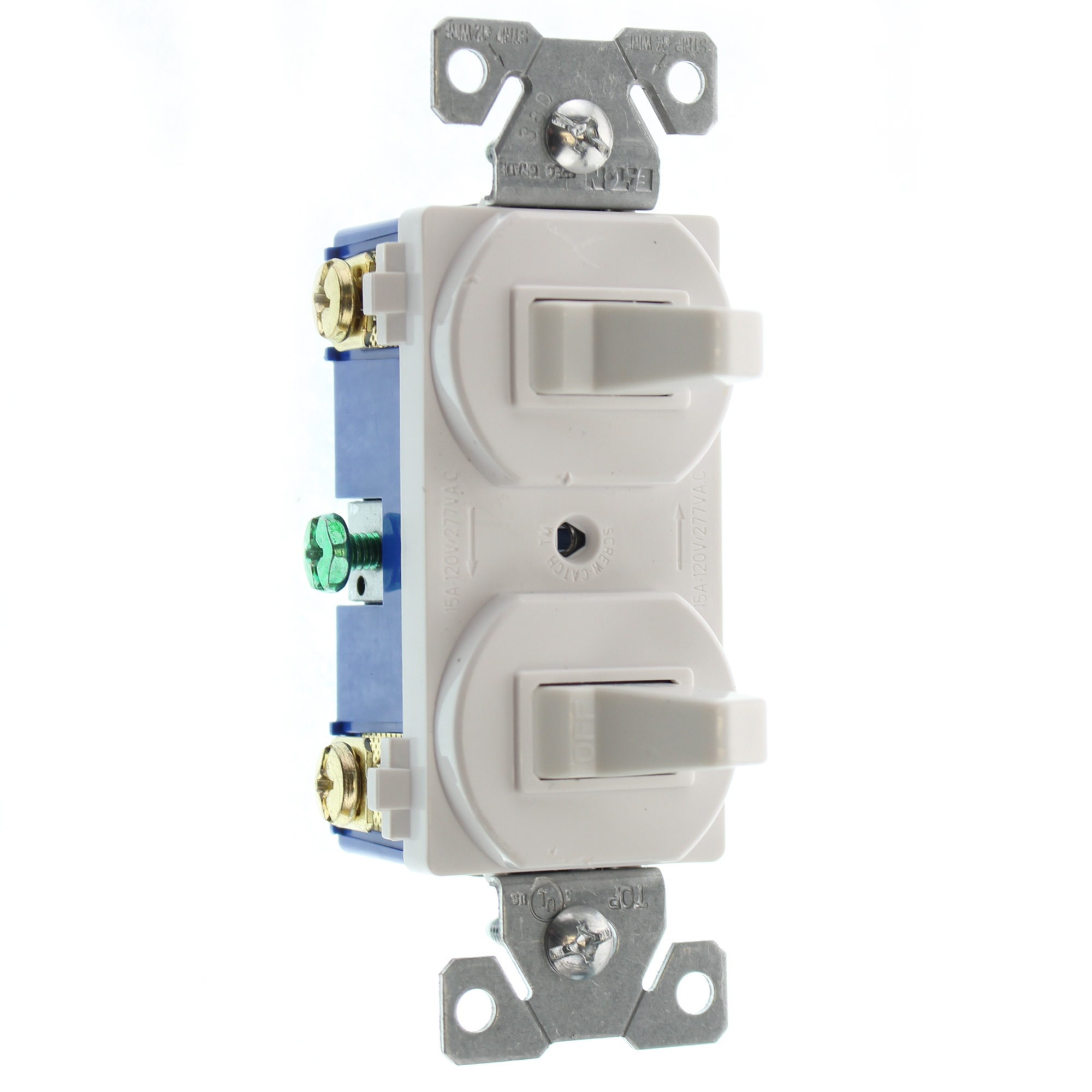 EATON COOPER 275W-SP-L DOUBLE TOGGLE SWITCH, 1-P & 3-WAY, 15A, 120 ...