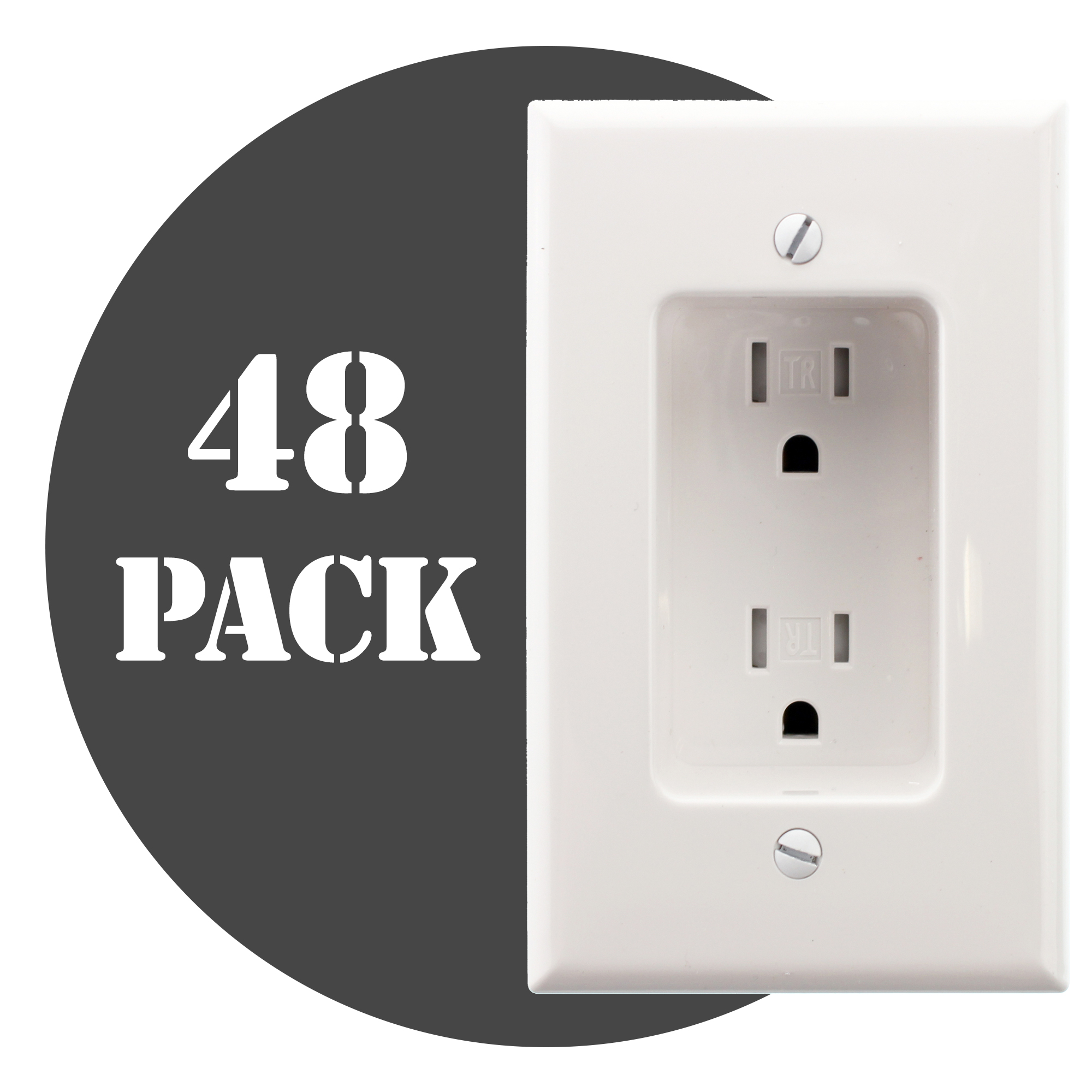 HUBBELL RR1510WZ RECESSED TV RECEPTACLE OUTLET, TR, 15A, 120V, WHITE ...