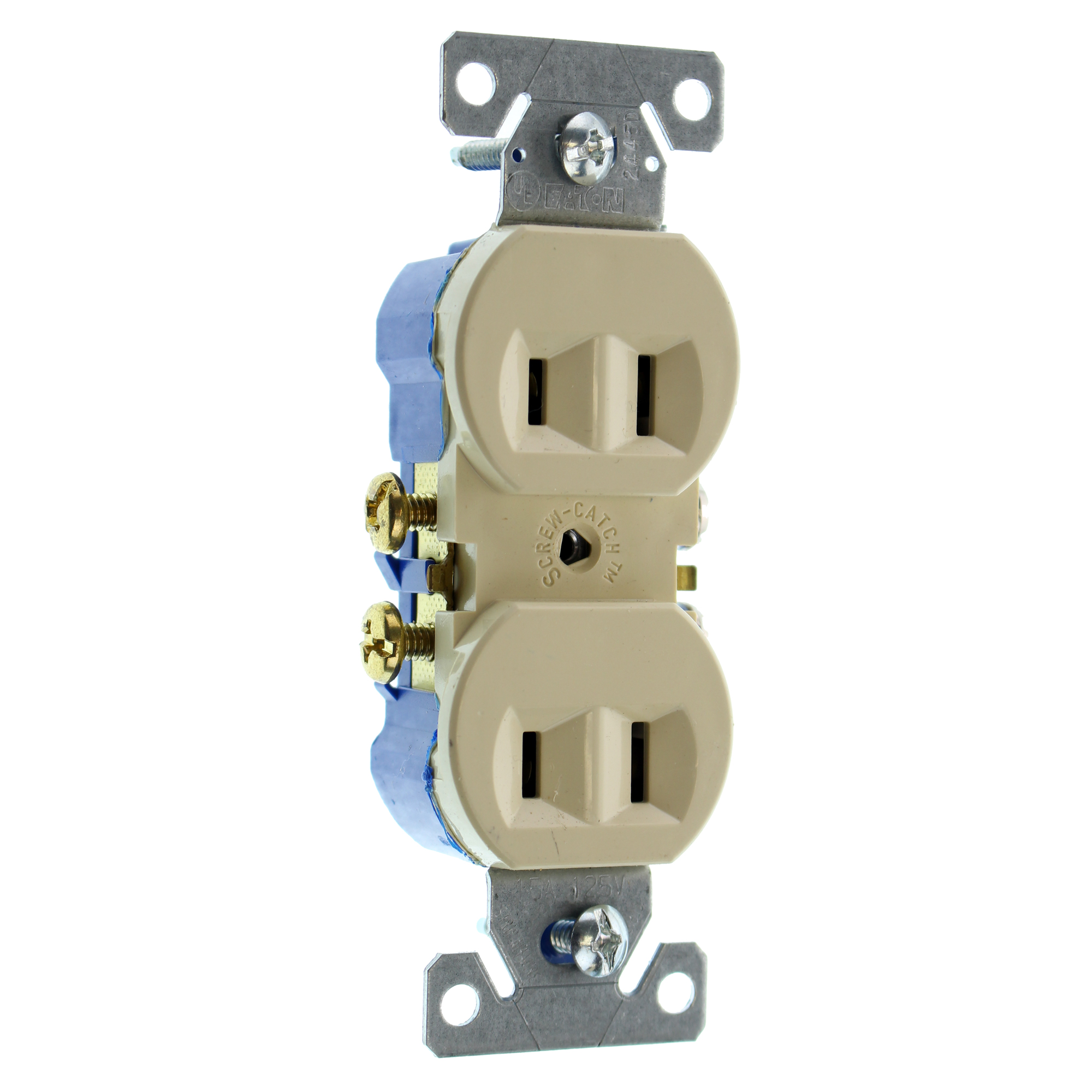 EATON COOPER 736V-SP-L RECETPACLE OUTLET, NON-GROUNDING, 2-WIRE, 15A ...