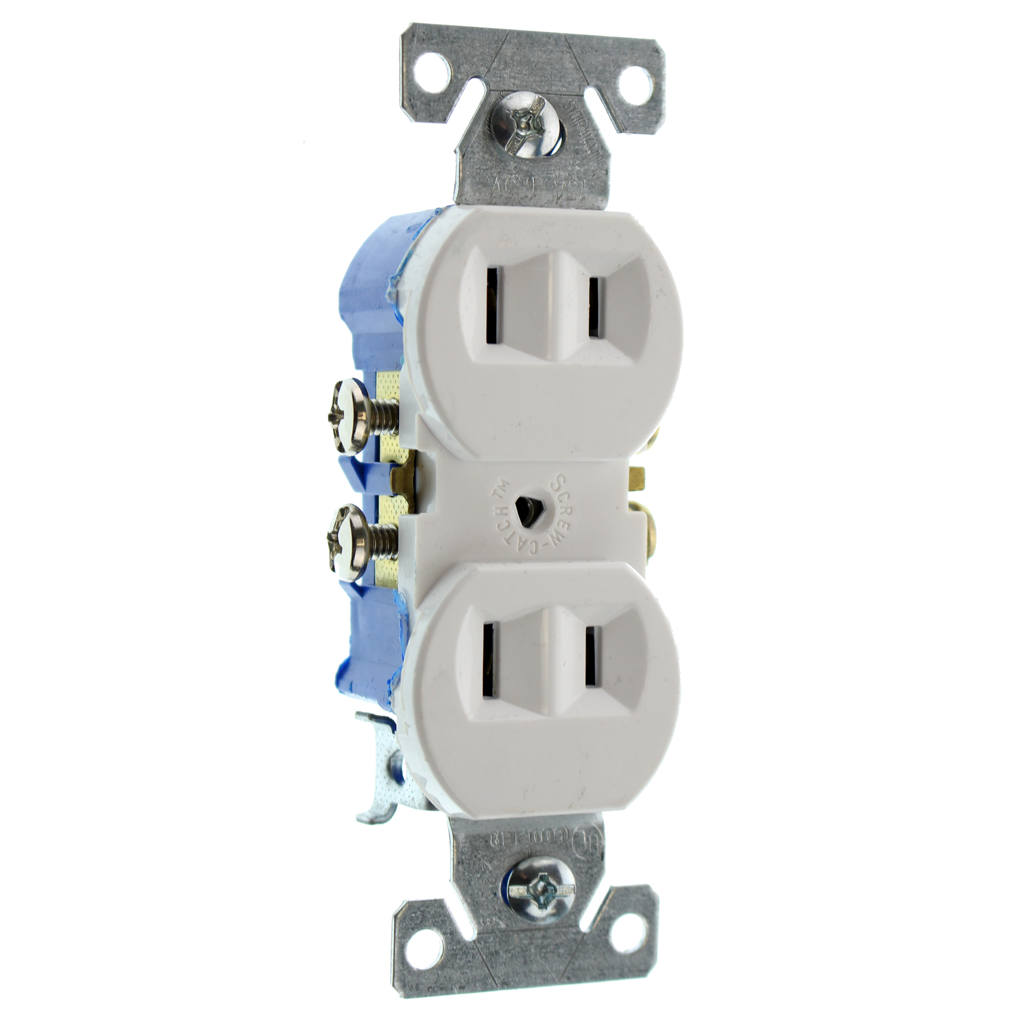 EATON COOPER 736W-SP-L RECETPACLE OUTLET, NON-GROUNDING, 2-WIRE, 15A ...