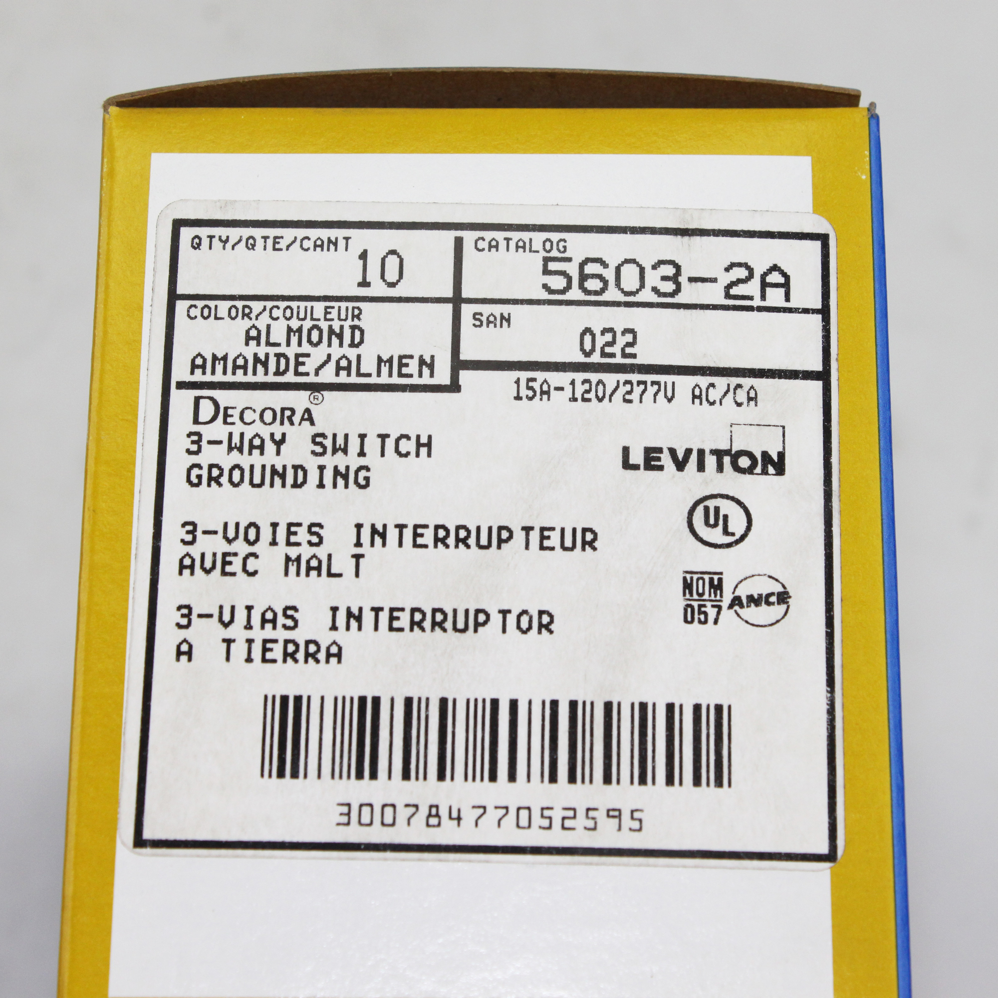 Leviton 5603 2a 15a 120 277 V Rocker 3 Way Switch Residential Almond Wiring Diagram We Gladly Accept Payments By Paypal Visa Mastercard Discover American Express