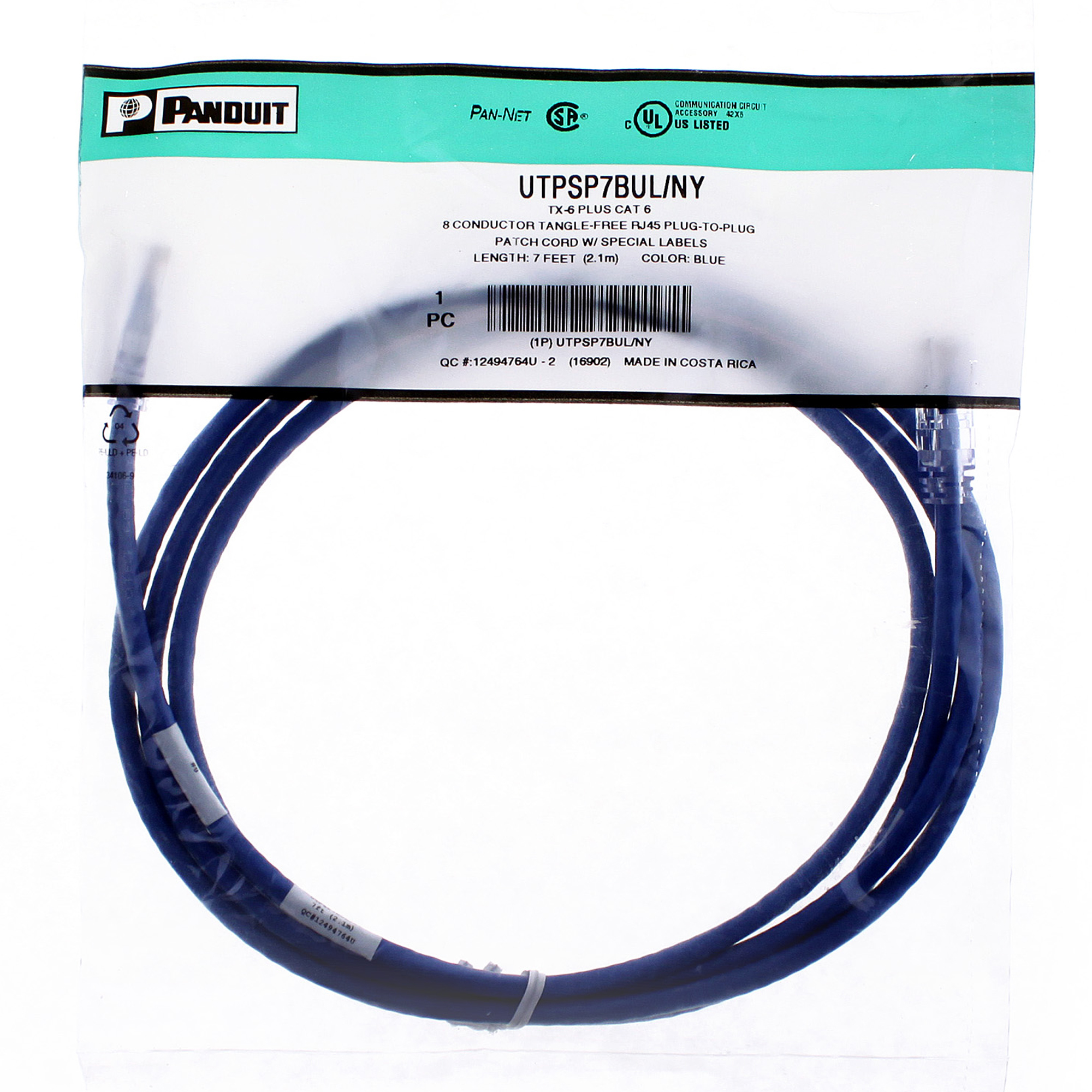 Panduit Utpsp7bul Ny Tx6 Plus Cat 6 8 Conductor Tangle Free Rj45 The Wiring Of Conductors To Has Also Been Established By We Gladly Accept Payments Paypal Visa Mastercard Discover American Express