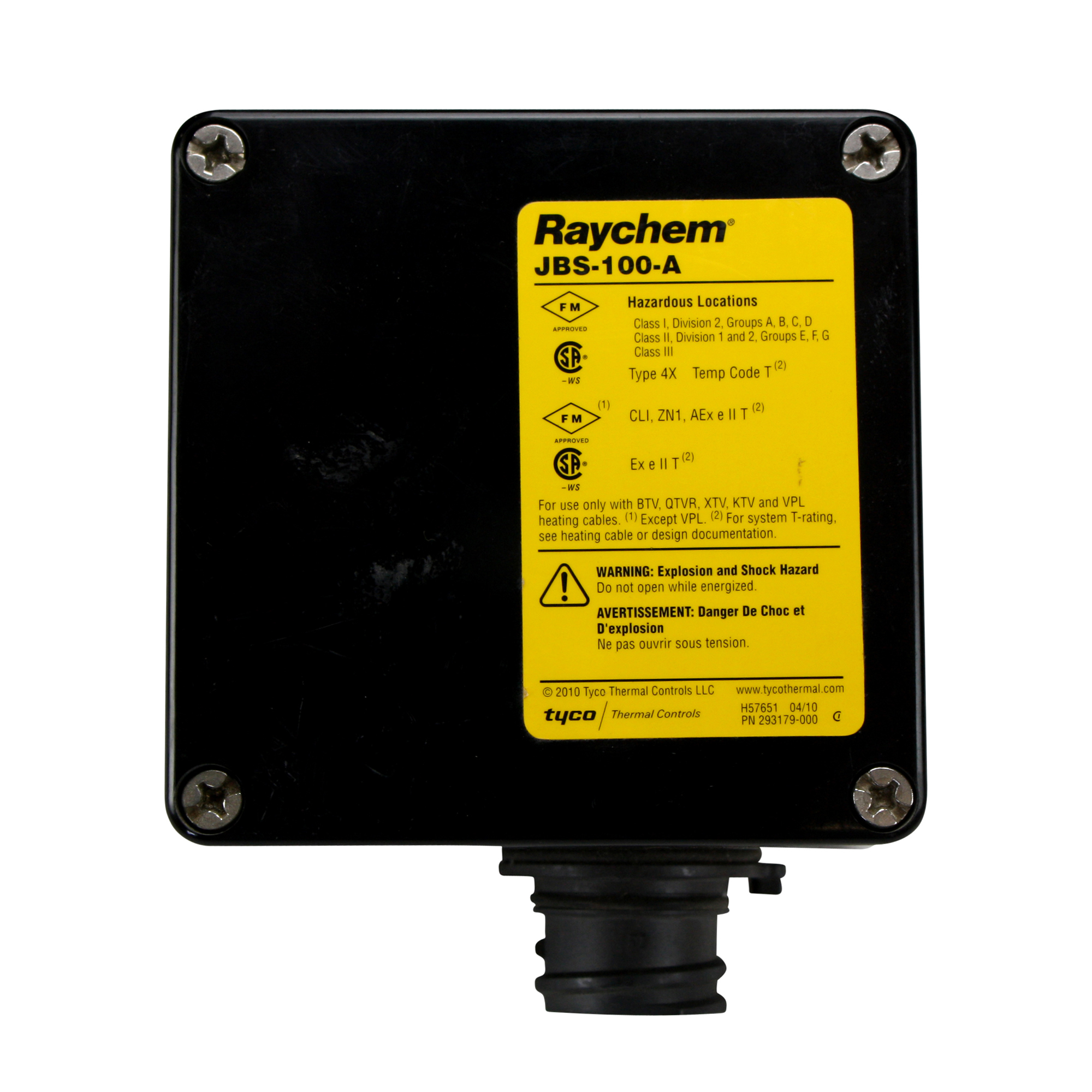 Raychem Tyco Jbs 100 A Heating Cable Power Connection