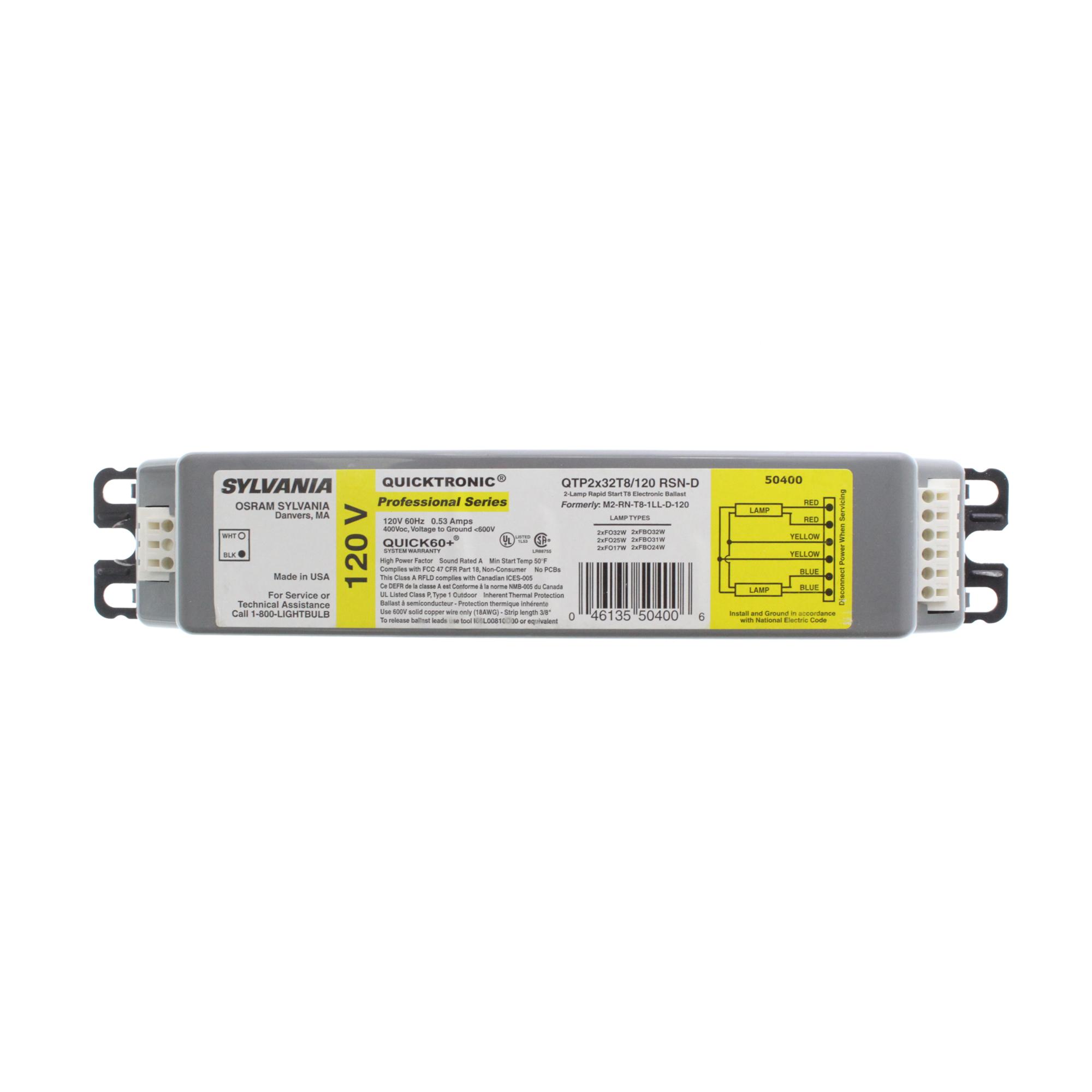 SYLVANIA QTP2X32T8//UNV PSX-TC 120//277V T8 Electronic Fluorescent Ballast NEW