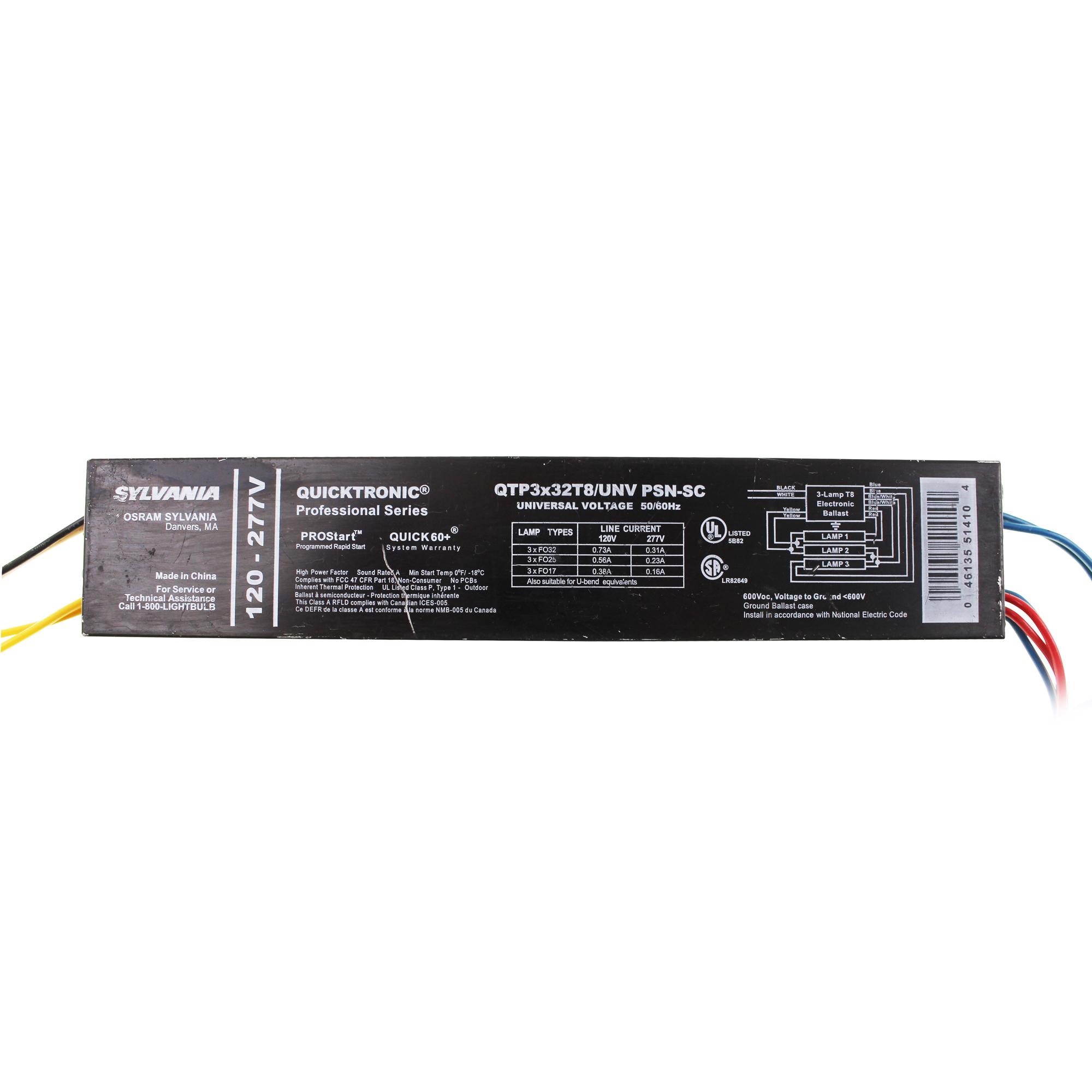 [SCHEMATICS_4PO]  SYLVANIA QTP3X32T8/UNV PSN-SC FLUORESCENT BALLAST, FO32T8 3 LAMP 32W T8  120/277V 703158643890 | eBay | Sylvania Ballast Wiring Diagram |  | eBay