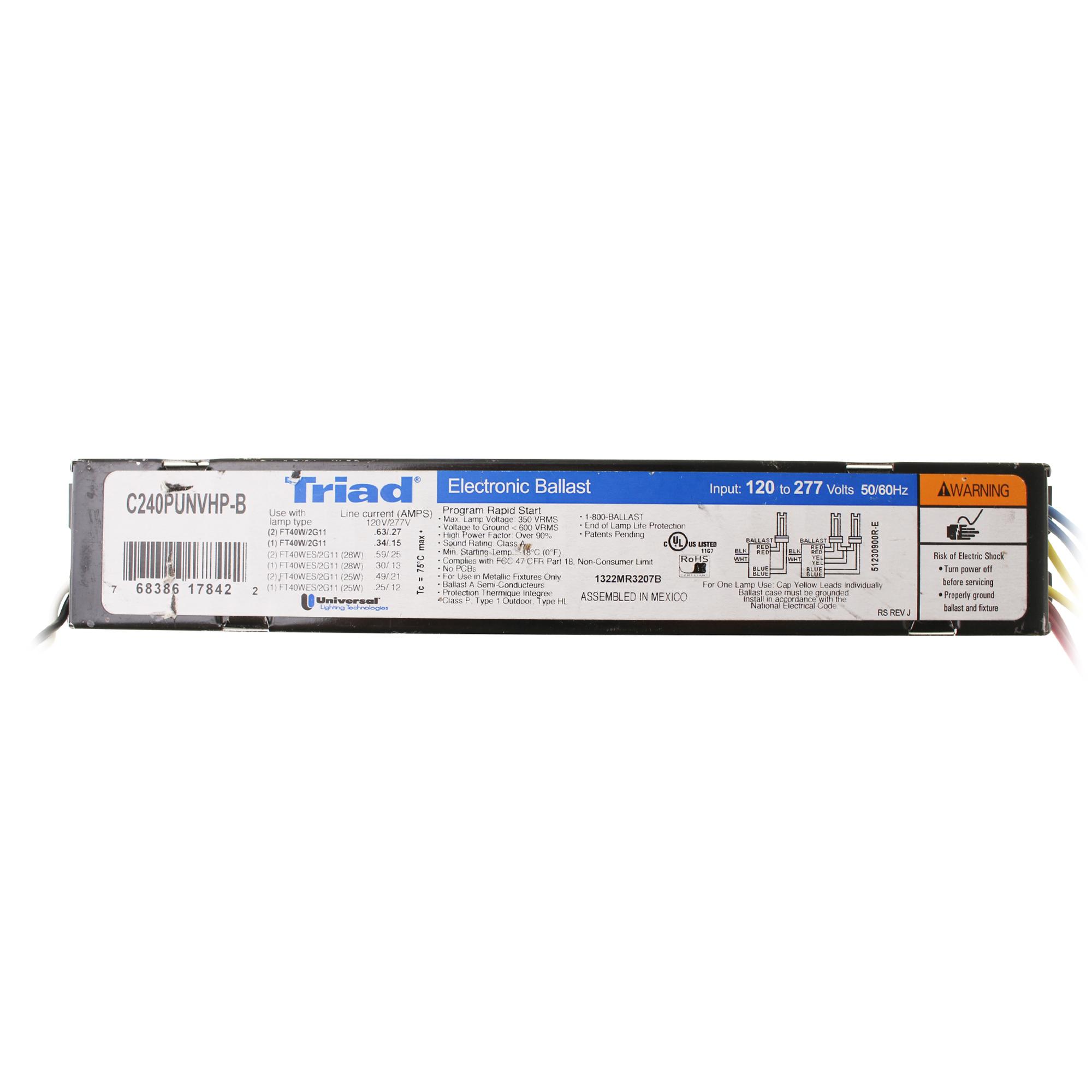 18W CFQ CFL 120//277V 2-Lamp Universal C218UNVME Compact Fluorescent Ballast